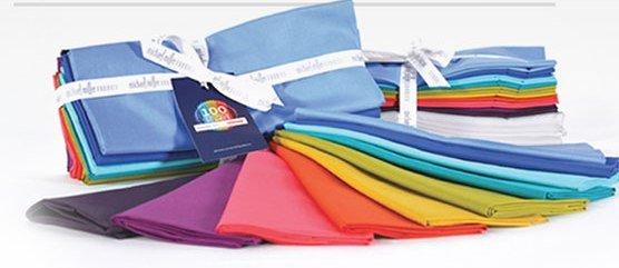 9.5 YARDS of Michael Miller Couture Cotton Fabric - Janome 100 Block Bundle
