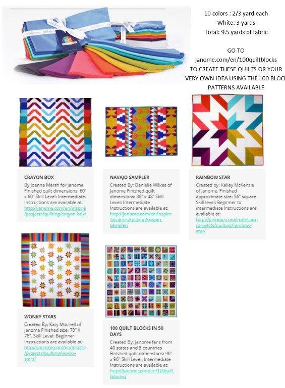 Michael Miller Fabric Bundle 100 Quilt Block Challenge