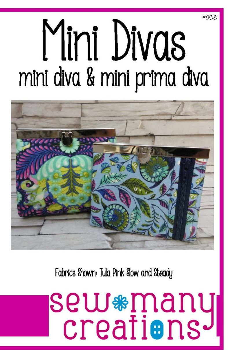 Mini Divas Wallet Pattern  4 1/2 by Sew Many Creations