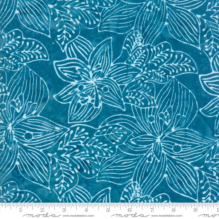 Moda Calypso Batiks by Kate Spain RAYON 54 wide 27258 132R Turquoise
