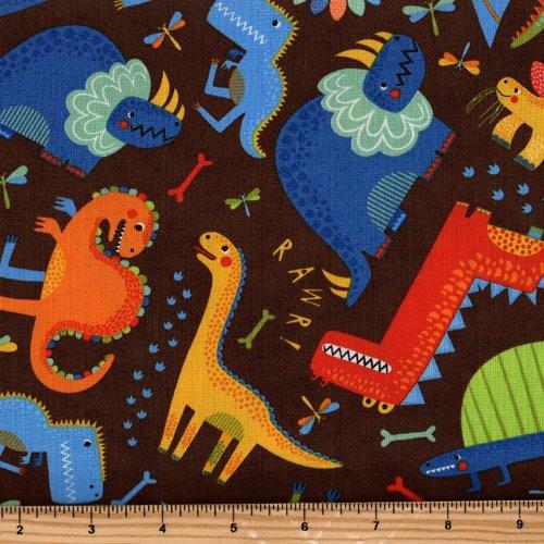 Dinosaur World 66 X 54 Lined Curtains Tie Backs: Moda Jurassic Jamboree 35290 19 Dinosaur