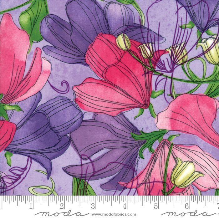 Moda - Sweet Pea & Lily by Robin Pickens 48640 14 Sweet Pea - Lavender