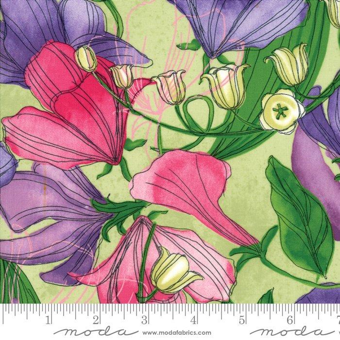 Moda - Sweet Pea & Lily by Robin Pickens 48640 19 Sapling - Light Green