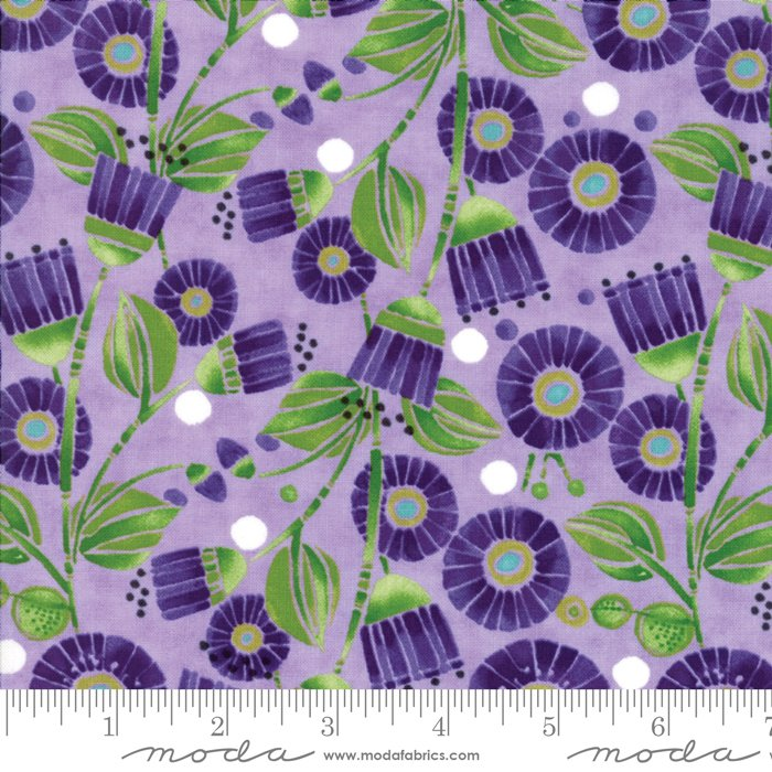 Moda - Sweet Pea & Lily by Robin Pickens 48641 14 Aster Flowers - Lavender