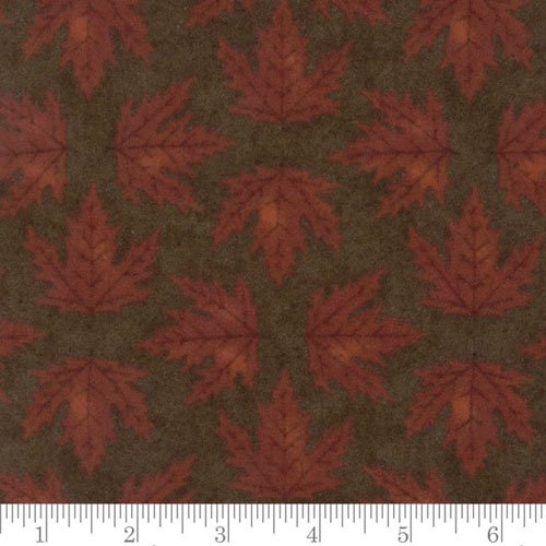 Moda Endangered Sanctuary Flannels by Holly Taylor: Walnut 6651 18F