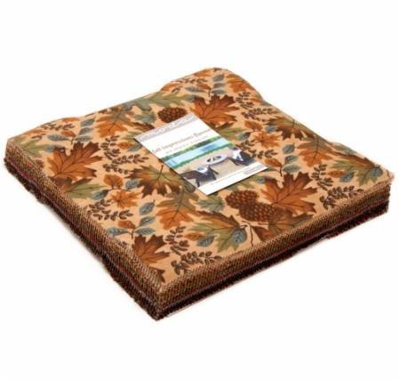 Moda Fall Impressions Flannel Layer Cake: 42 pcs 10x10