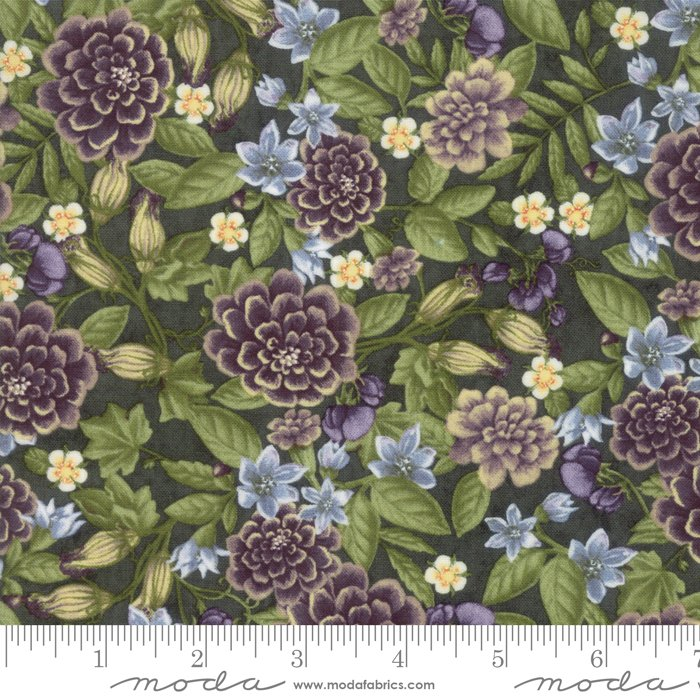 Moda - Fresh Off The Vine 6761 13 Floral Zucchini Dark Green