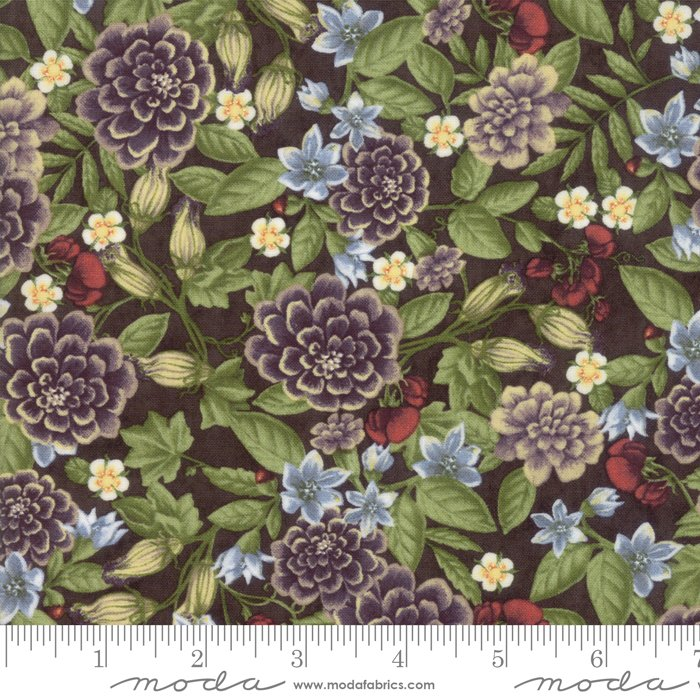 Moda - Fresh Off The Vine 6761 17 Floral Earth Brown