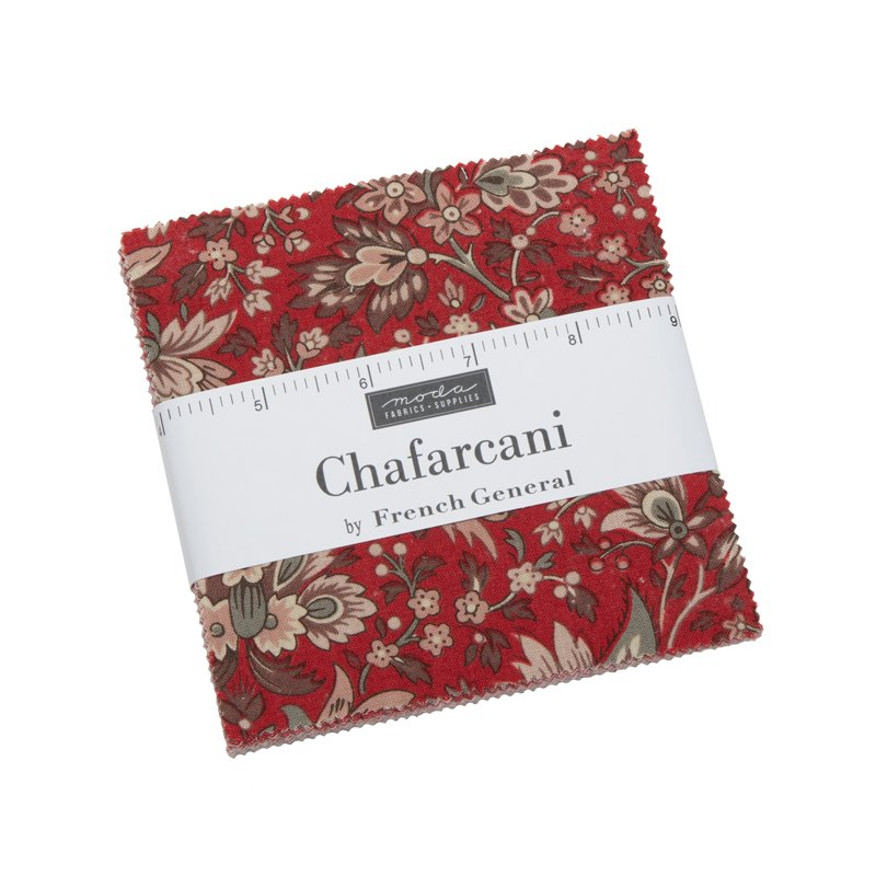 Moda | French General | Chafarcani Charm Pack 13850PP - 42 assorted squares