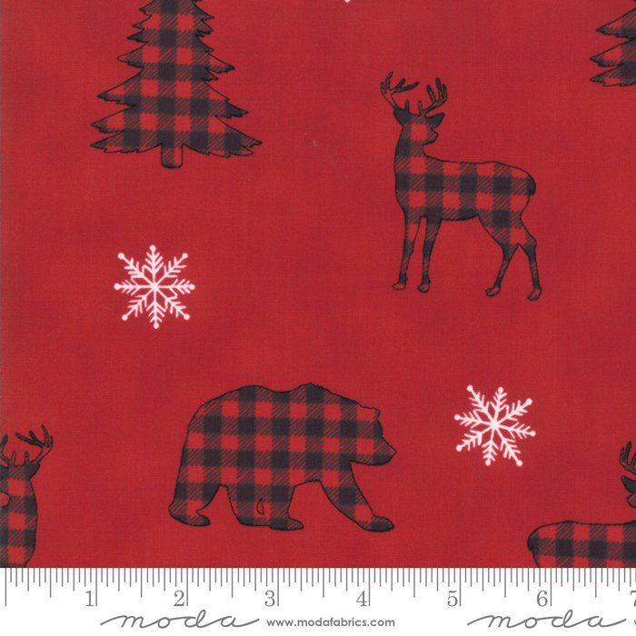 Moda - Holiday Lodge by Deb Strain - 19891 11 Buffalo Plaid Forest - Berry Red