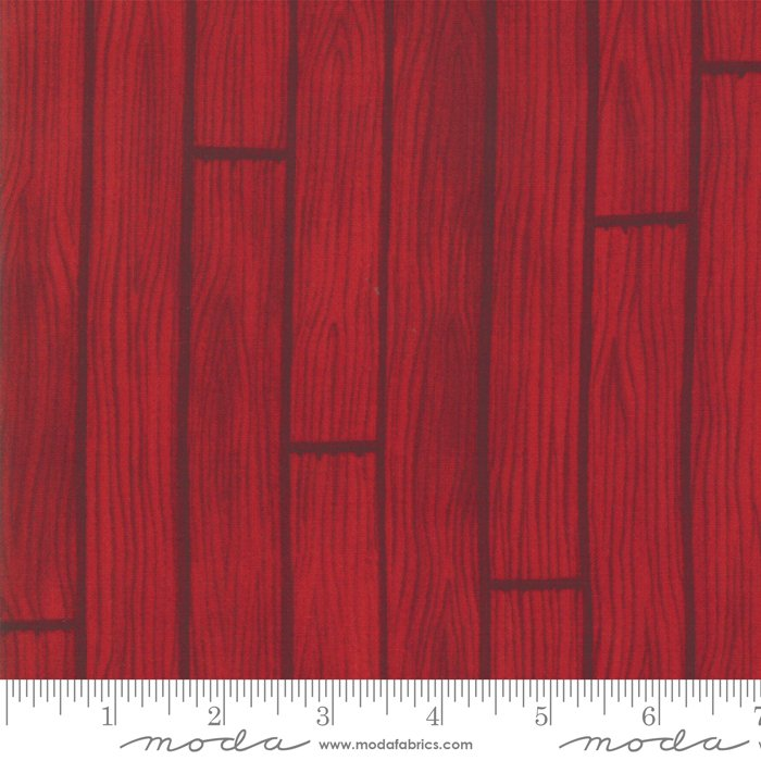 Moda - Holiday Lodge by Deb Strain - 19892 11 Barnwood Berry Red