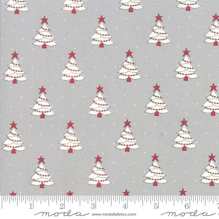 Moda Country Christmas 296119 Dusty Grey Tree Farm by Bunny Hill Designs