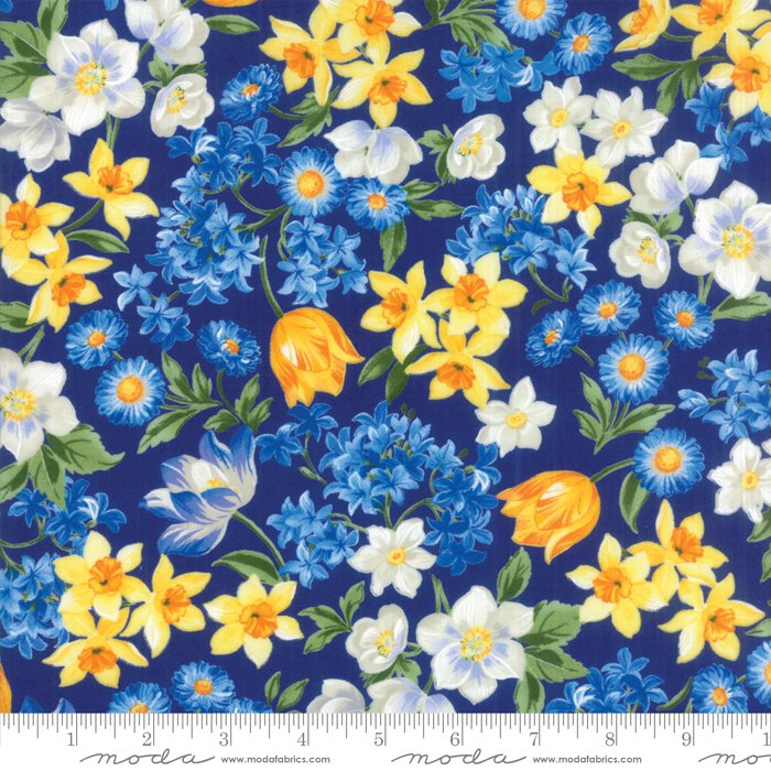 Moda Summer Breeze VI - Spring Garden Dark Blue 33370 15
