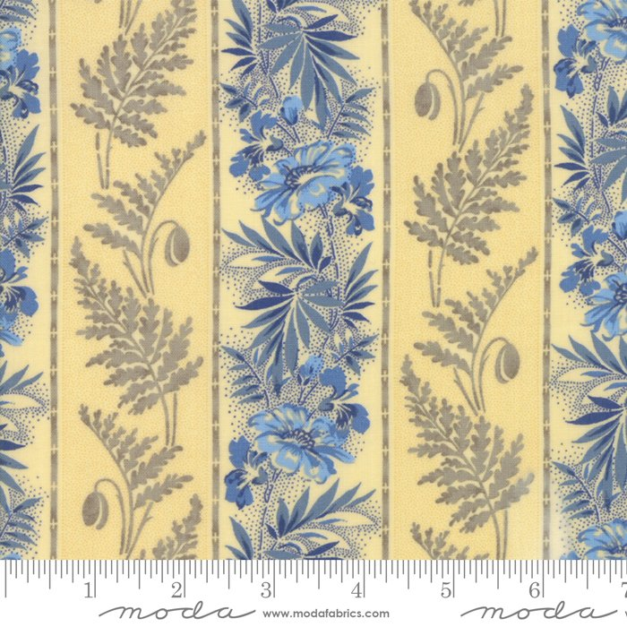 Moda- Regency Ballymore Chintz - Sudbury Yellow Stripe 42322-11