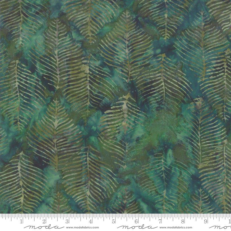 Moda Splendor Batiks 4354 15 Beech Leaves - Emerald
