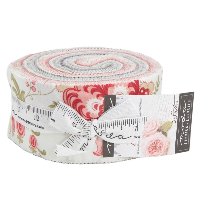 Porcelain by 3 Sisters Jelly Roll 44190JR 40 strips
