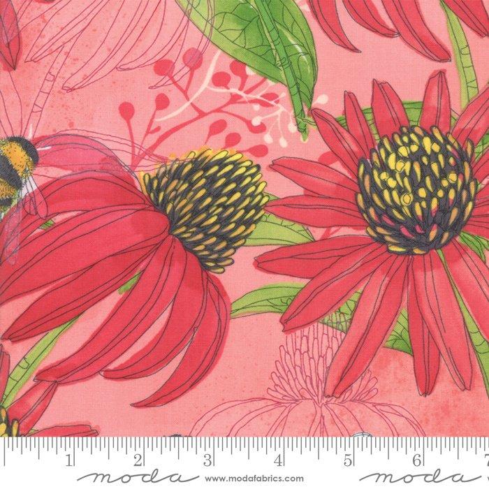 Moda   Painted Meadow 48660 16 - Coneflower Petal Light Pink