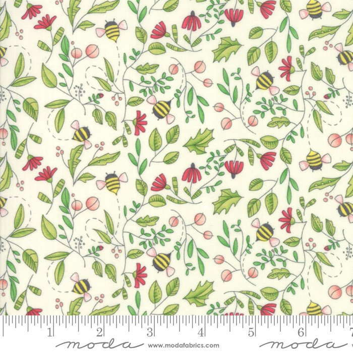 Moda | Painted Meadow 48662 11 Simple Nature Drawing - Cream Natural