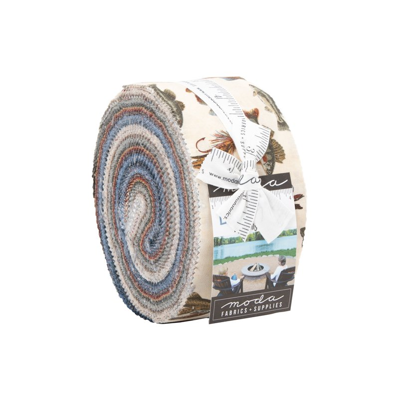 Moda Lake Views 6800JR Jelly Roll - 40 strips cut 2 1/2