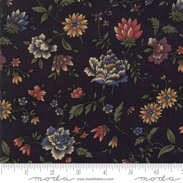 Moda - Through The Years 9620 19 Black Floral by Kansas Troubles Quilters