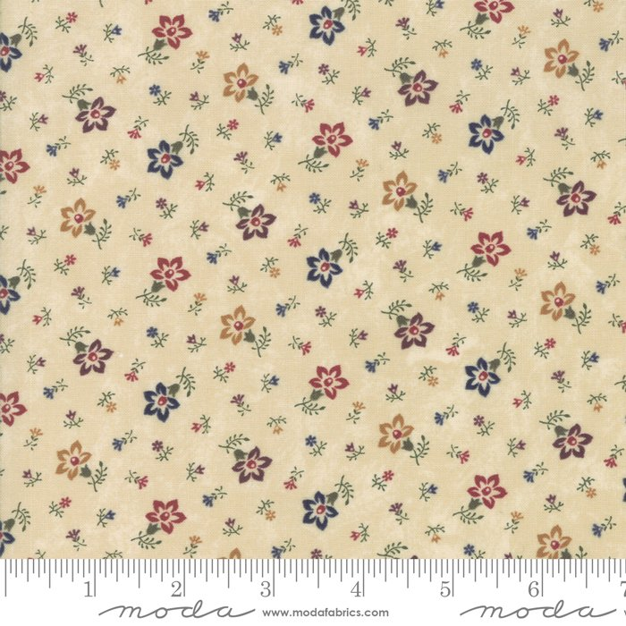 Moda - Through The Years 9622 11 Tan Perennials by Kansas Troubles Quilters