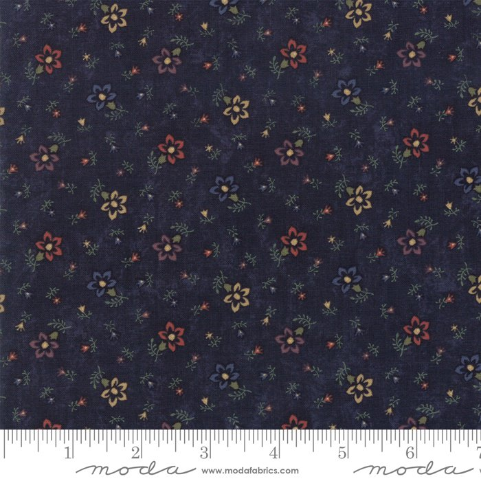 Moda - Through The Years 9622 14 Navy Perennials by Kansas Troubles Quilters