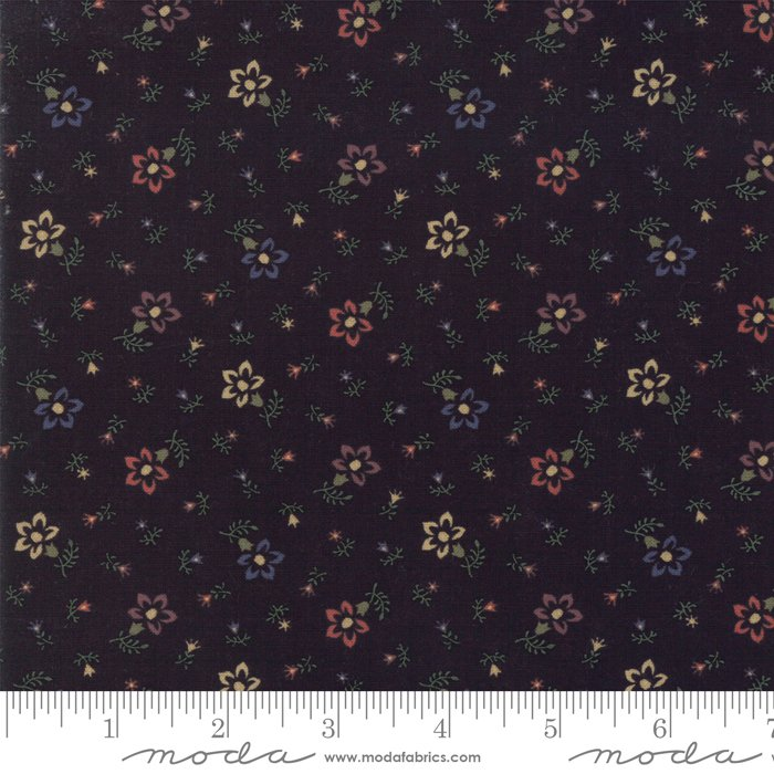 Moda - Through The Years 9622 19 Black Perennials by Kansas Troubles Quilters