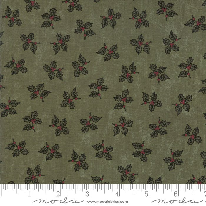 Moda - Sweet Holly 9631 15 Green Mini Holly by Kansas Troubles Quilters