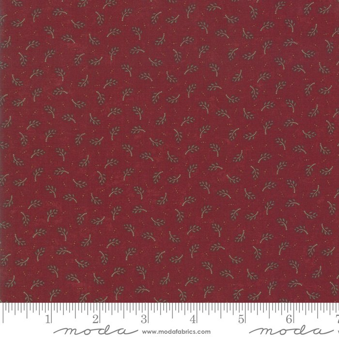 Moda - Sweet Holly 9632 13 Red Evergreen by Kansas Troubles Quilters