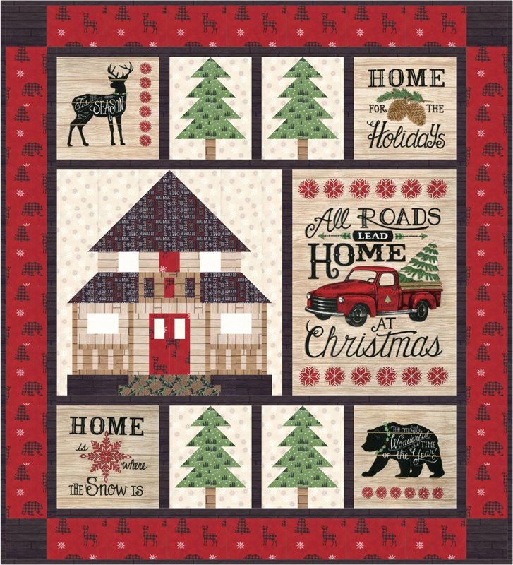 Moda - Holiday Lodge Quilt Kit (Pre-Order for Early June 2019 Delivery)