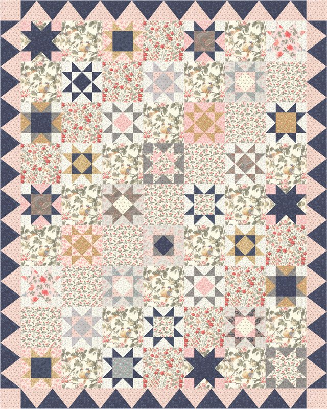 Moda Daybreak by 3 Sisters - KIT 44240 makes a 64x80 quilt