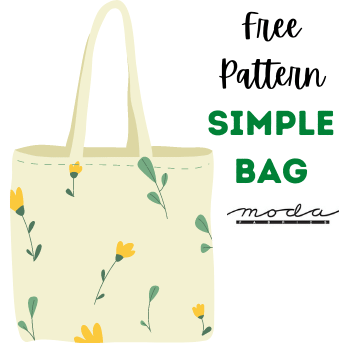 Free Pattern:  Eco-Friendly Simple Bag by Moda - Made With Love