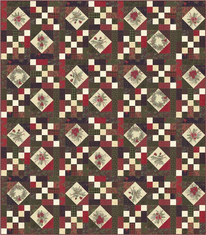Moda - Winter Manor Quilt Kit by Holly Taylor for Moda Fabrics