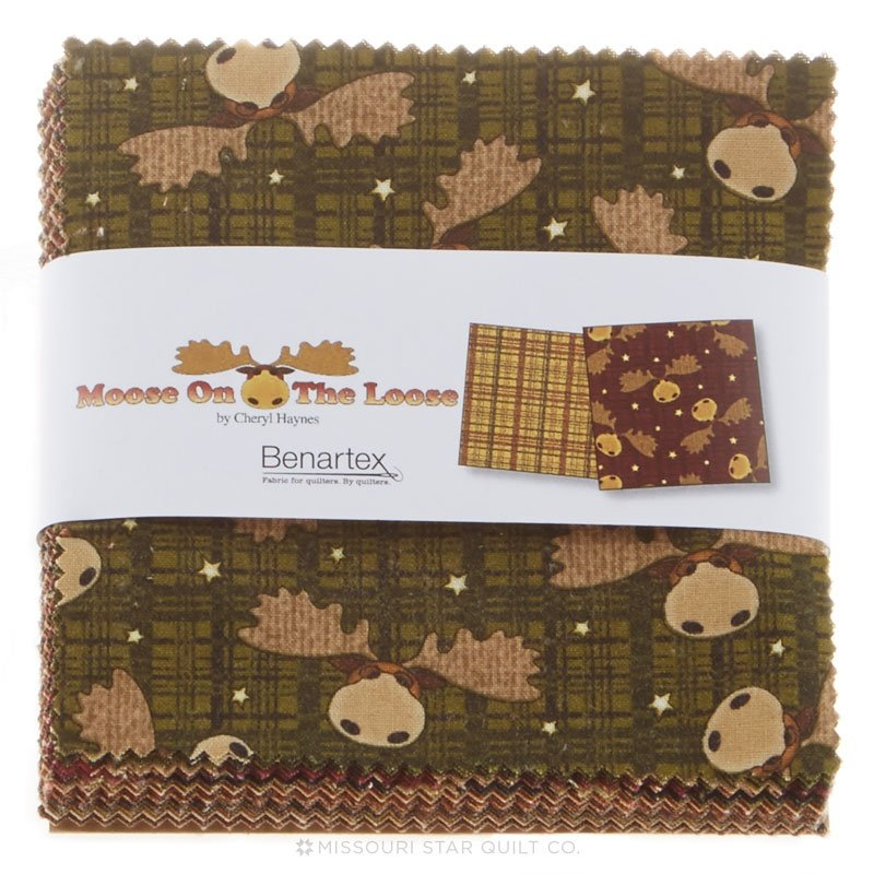 Benartex| Moose on the Loose  5 squares - 42 pieces