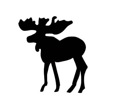 Moose Applique - Black- Pre-Fused Laser Shape approximately 6 long