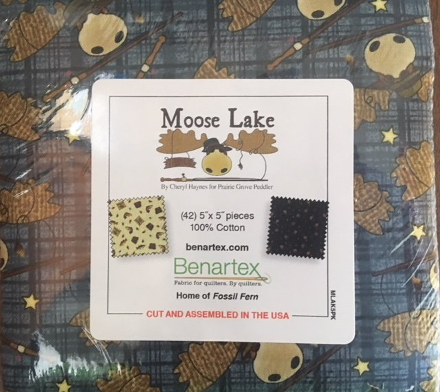 Moose Lake by Cheryl Haynes for Benartex | Pack of 42 assorted 5 inch squares