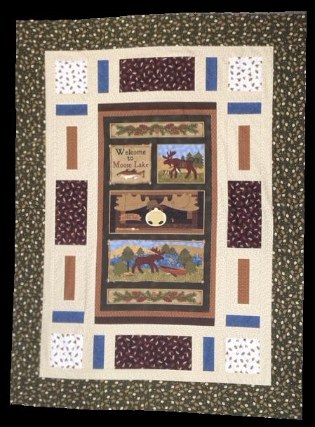 Moose Lake Quilt Kit 54x72 featuring Moose Lake fabrics by Benartex