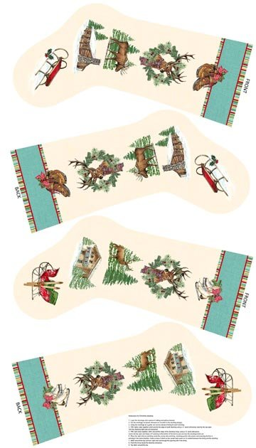 Spruce Mountain 22226 64 Christmas Stocking Panel by Northcott