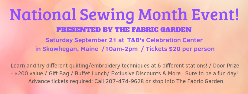 National Sewing Month Event