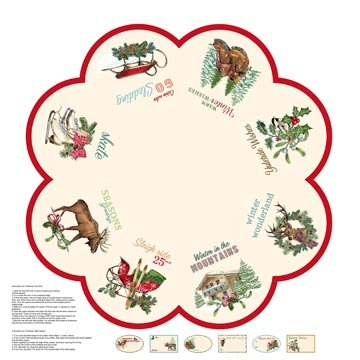 Spruce Mountain 22257 11  Christmas Tree Skirt Panel by Northcott