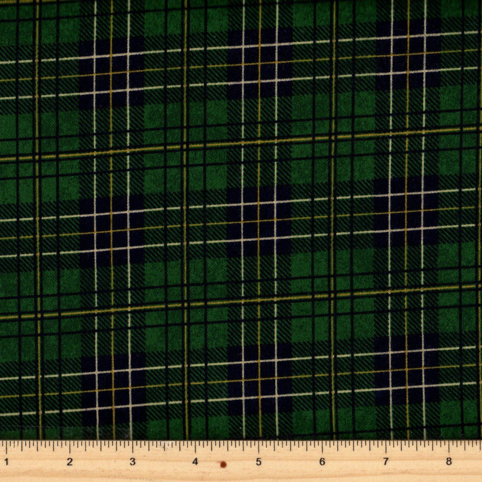 Northcott Mountain Lodge F20571 79 Green Flannel