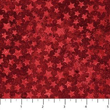 Nortcott Stars and Stripes VII - 20160 24 Patriotic Stars Red