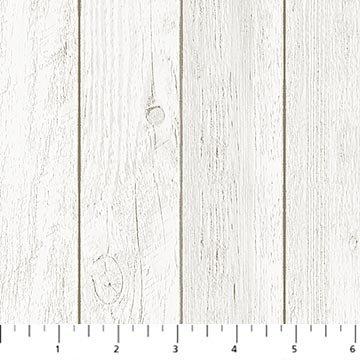 Northcott My Home State 23183-91 Wood Grain Barnboard - Cream