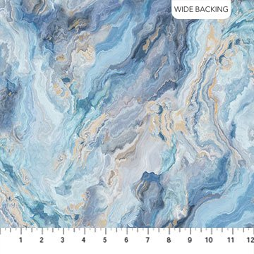 Northcott | Swept AwayWIDE BACKING B23368-42 Blue Marble