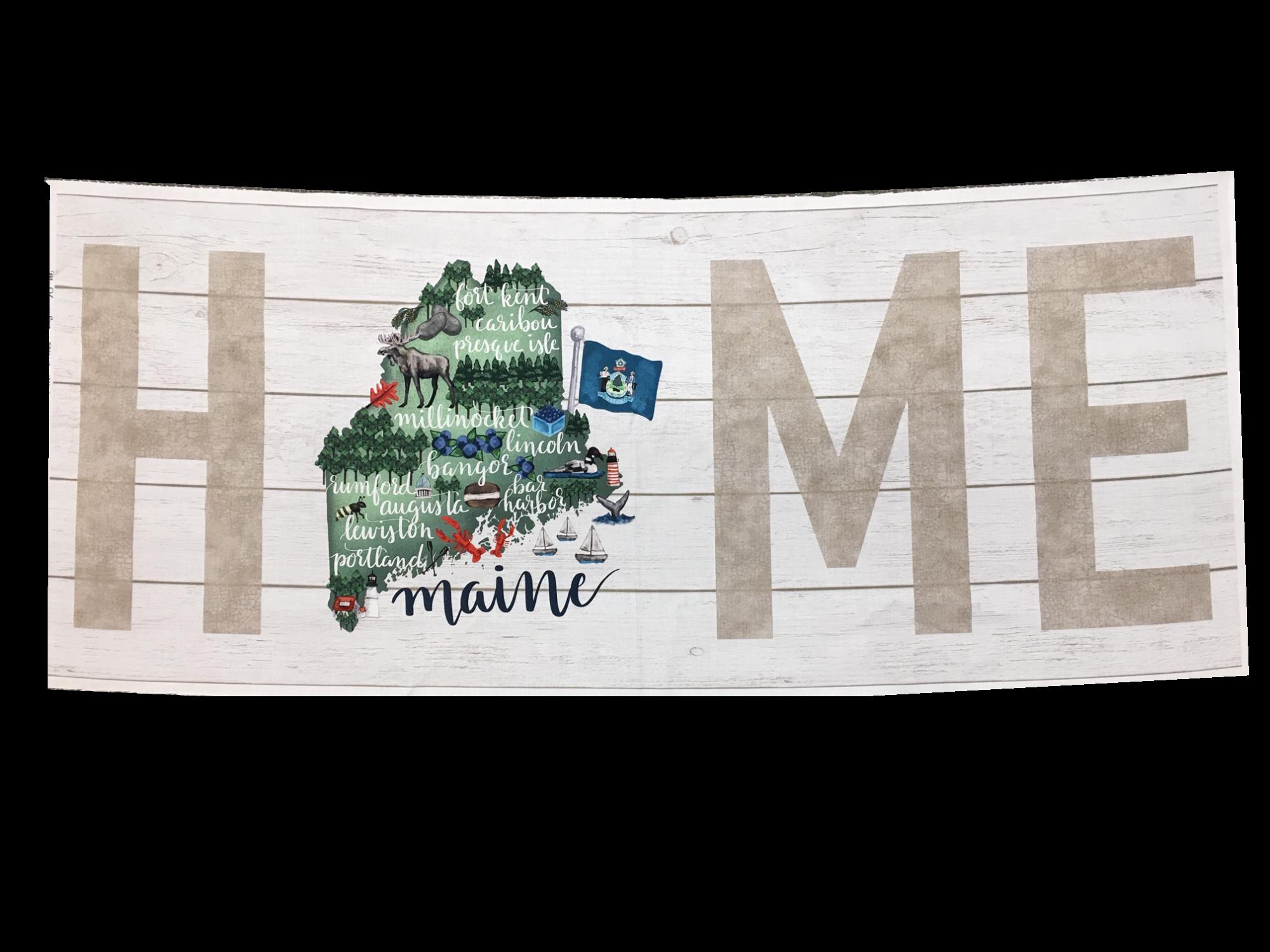 Northcott My Home State MAINE PANEL DP 22148-10 43x18