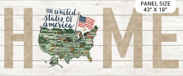 Northcott My Home State UNITED STATES PANEL DP 23182-10 43x18