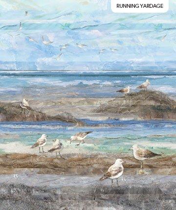 Northcott | Swept Away FEATURE PANEL Ocean Scene Gulls