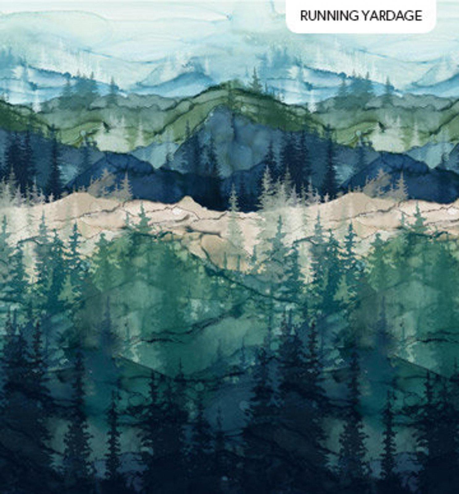 Northcott WHISPERING PINES DP 23751 46 Mountain Scene- Digital Fabric
