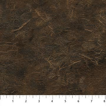 Northcott LAKESIDE LODGE FLANNEL F23562 36 Leather Texture Brown