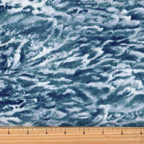Northcott Naturescapes 21391 42 Blue Ocean Water Waves